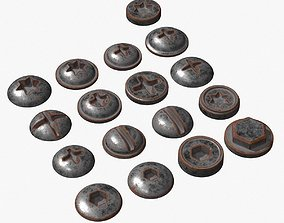 3D model Screw Heads Collection