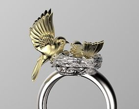 3D print model birds in the nest ring