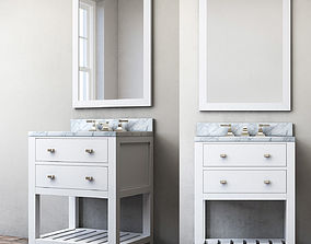 RH Hutton powder room washstand 3D
