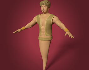 Cartoon Djinn - The Genie of the Lamp 3D model