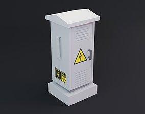 VR / AR ready Electrical Box - Transformer Game Ready 3