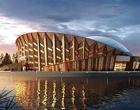Soccer Stadium 0001 3D model