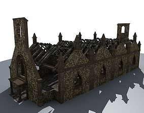 3D Ruined House 3c