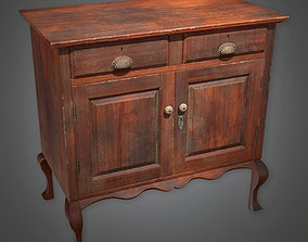 3D model ATT - Wooden Cabinet Antiques 02 - PBR Game Ready