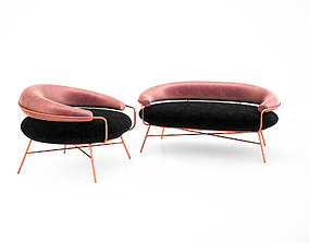 3D De Medici sofa and armchair by Hi Atelier