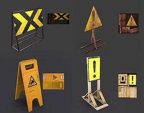 3D model Road signs for games and VR