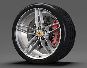 Ferrari 488 GTB wheel 3D model