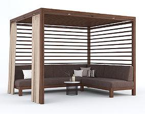 3D Garden Gazebo with sofa Equinox Cabana by TUUCI