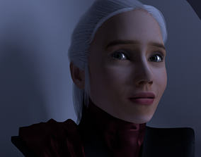Daenerys Targaryen Face emotions Game of 3D asset 3