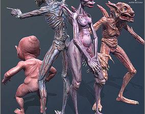 Vampires Family 3D asset