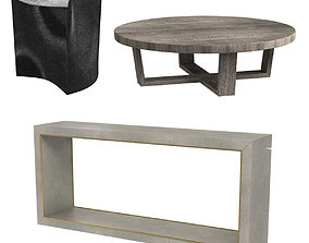 3 tables collection 3D model