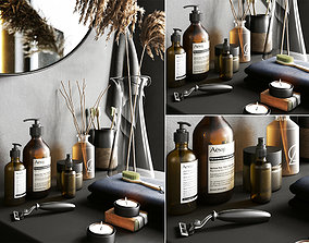 Bathroom Decorative Set 3D asset