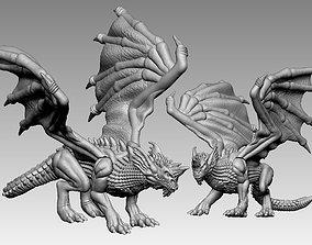 3D printable model blue dragon dnd