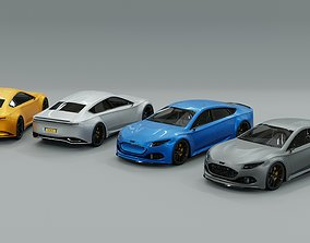 3D model Generic Full Sports Car Pack