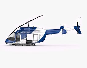 3D model Crushed Helicopter