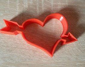 Heart cookie cutter house 3D print model
