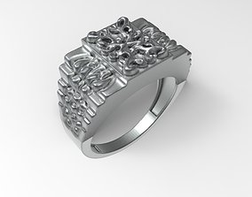 jewelry chrome men ring 3D print model
