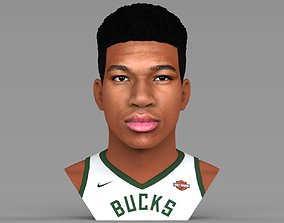 Giannis Antetokounmpo bust ready for full color 3D