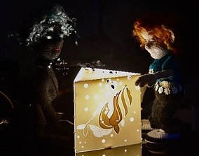 Whale night lamp or veladora 3D print model