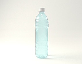 Clear plastic water bottle 3D