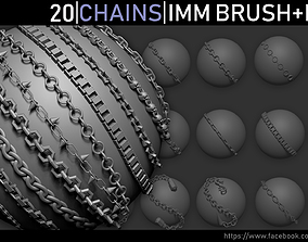 Zbrush - Chains IMM Brush and Meshes 3D model