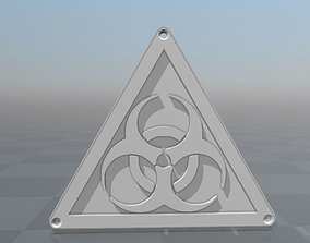 Biohazard logo 3D printable model