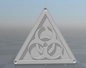 Biohazard logo 3D printable model