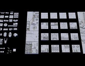 Scifi Greeble Kitbash 3D model