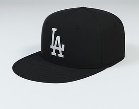 LA Dodgers Baseball Caps 3D model