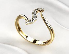 3D print model Diamonds Golden Ring