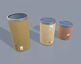 3D asset Drum barrels pack 1