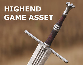 High End Sword for Games and Cinematics 05 3D asset