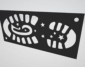 Christmas Santas Footprint Stencil Left and Right Boots