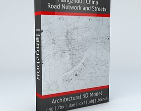 Hangzhou Road Network and Streets 3D model