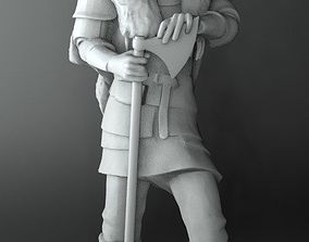 Viking with twohanded axe 3D printable model