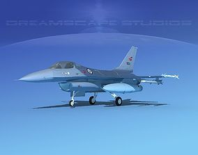 3D model Gen Dyn F-16A Falcon V38 Norway