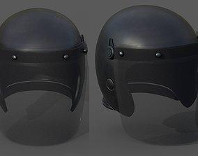 Helmet scifi police mask military combat soldier 3D model