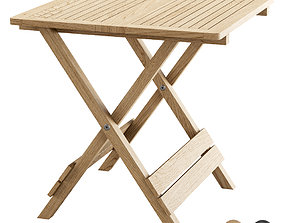 Outdoor Folding Side Table FB11 3D asset