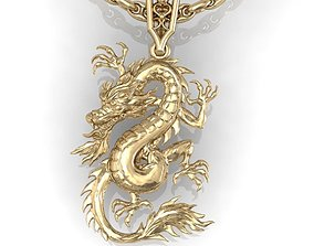 3D print model animals dragon pendant