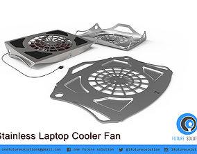 Stainless Laptop Cooler Fan 3D