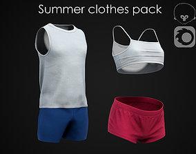 3D model Summer clothes pack