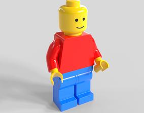 3D rigged Lego Minifigure
