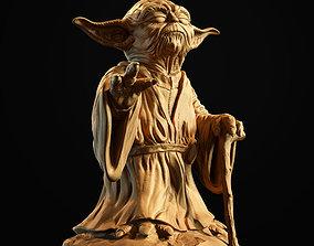 Yoda Sculpture fan 3d print model star