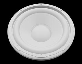 Speaker Woofer 3D Print - Blender 3d device