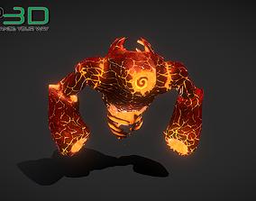 Fantasy Fire Elemental 3D model