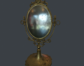 Antique Mirror 3D asset