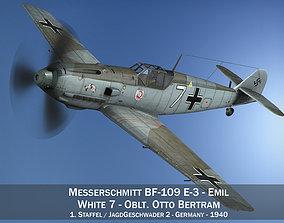 3D Messerschmitt - BF-109 E - White 7