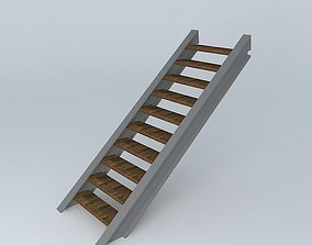 3D model Modern Stairs house