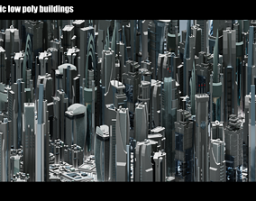 3D model 35 Futuristic Buildings VOL 1