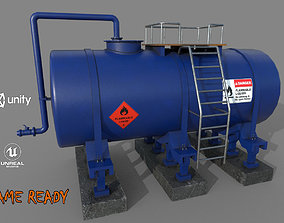 3D model game-ready Industrial Tank
